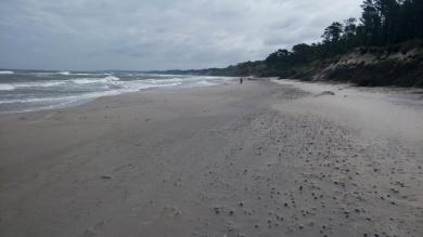 Strand im Sturm